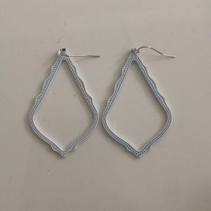 Kendra Scott White Sophee Drop Earrings